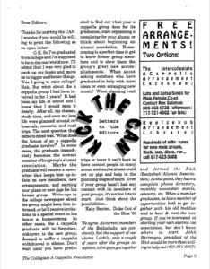 Contemporary A Cappella Newsletter 1.1 October 1990